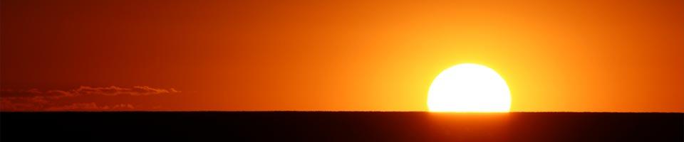 Vackra solnedgångar från våra balkonger!